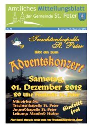 ab 22.11.2012 bei - St. Peter