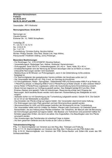 Bösingen-Herrenzimmern - greiner edv turnierservice
