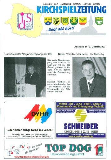 Neues vom TSV Medelby Kompetenz in Dach ... - kirchspielzeitung