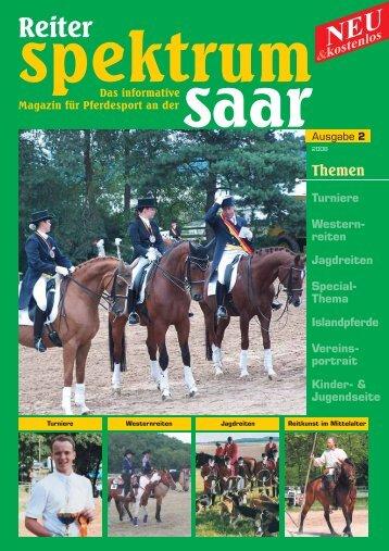 reiten Jagdreiten Special- Thema Islandpferde Vereins ... - Anne Adam