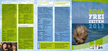 Freizeit Flyer 2013 - Download (PDF) - ECJA