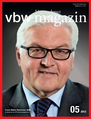 Frank-Walter Steinmeier, MdB - Vereinigung der Bayerischen ...