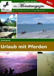 Urlaub mit Pferden - Pferde und Reiten auf Pferdchen.org