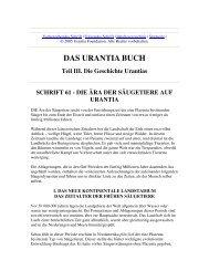 Das Urantia Buch - Schrift 61 - Die Ära der Säugetiere auf Urantia