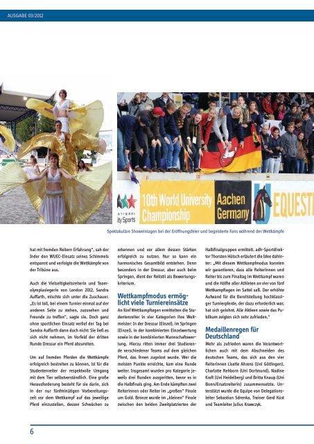nachgefragt - Allgemeiner Deutscher Hochschulsportverband