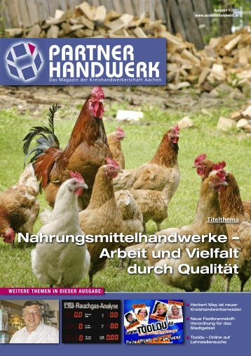 Partner Handwerk 1/2011 - Kreishandwerkerschaft Aachen