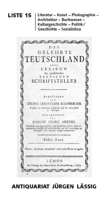Liste 15 - Antiquariat-Laessig.de