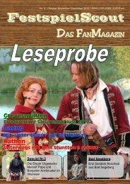Hier ist eine Leseprobe zur Ausgabe Nr. 9 - FestspielScout.de