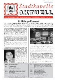 Ausgabe 38 / April 2010 - Stadtkapelle Wasserburg am Inn eV