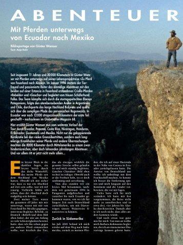 Ein letzter Blick in die - Globetrotter-Magazin