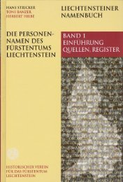 Teil I - Historischer Verein für das Fürstentum Liechtenstein