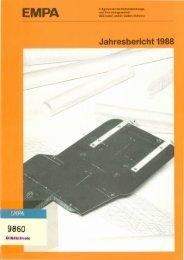 Jahresbericht 1988 - Eawag-Empa Library / Empa-Eawag Bibliothek