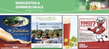 Biergärten & Sommerlokale im Rhein-Kreis Neuss  -06.07.2018-