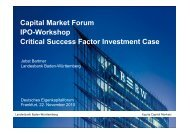 Capital Market Forum IPO-Workshop Critical Success Factor ...