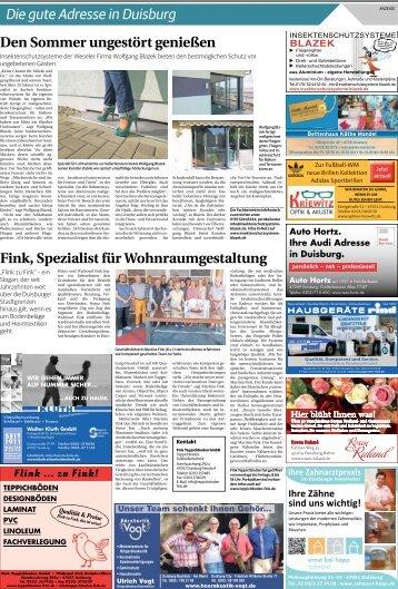 Die gute Adresse in Duisburg  -06.07.2018-
