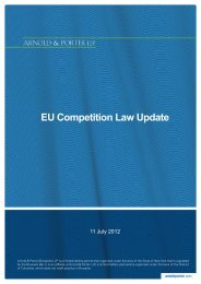EU Competition Law Update - Arnold & Porter LLP