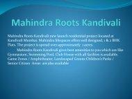 Mahindra Roots Kandivali
