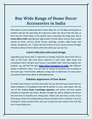 Buy Wide Range Of Home Decor Accessories In India