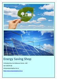 Why Should You Use Solar Systems at Home - Energy Saving Shop