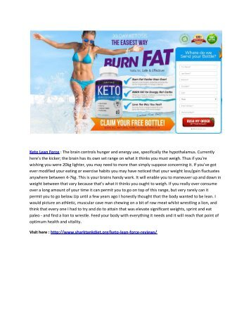 Keto Lean Force - Safe And Effective Pills For weightloss