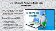 1-800-658-7602 Steps to fix AVG Antivirus Error 0xe001f94e