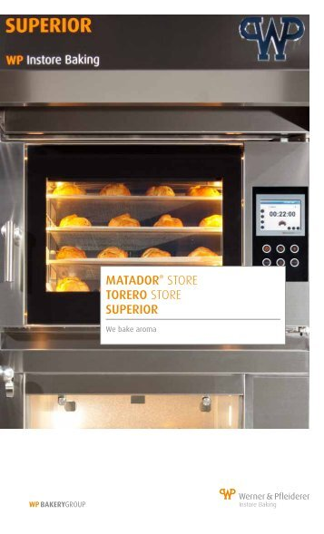 WP quality ovens for manual production - WP BAKERYGROUP
