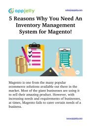 5 Reasons Why You Need An Inventory Management System for Magento!