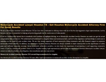 Houston Motorcycle Accident Lawyer TX
