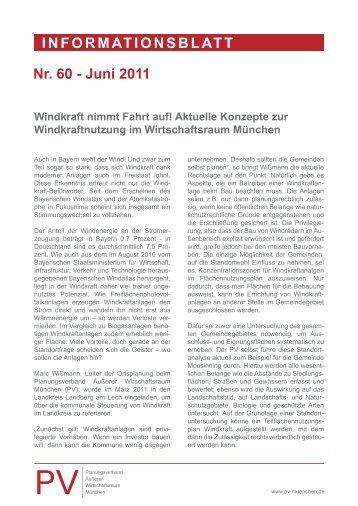 Nr. 60 - Juni 2011 Windkraft nimmt Fahrt auf! - Planungsverband ...