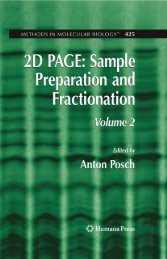 2D PAGE: Sample Preparation and Fractionation - Mycobacteriology ...