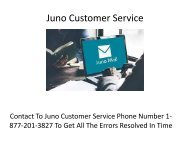 Juno Technical Support | Customer Service Toll Free Number