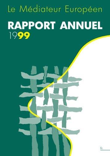 RAPPORT ANNUEL 1999 - EOI