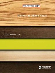 Annual report (PDF) - Pfleiderer AG