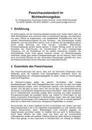 Dr. Feist: Passivhausstandard im Nichtwohnungsbau