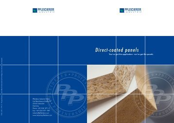 Production of direct-coated panels - industrie.pfleiderer.com