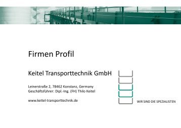 company profile download - Keitel Transporttechnik