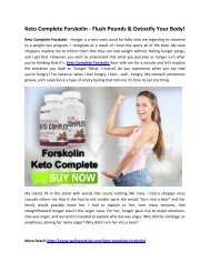 Keto Complete Forskolin Reviews - Increase Your Energy & Stamina!