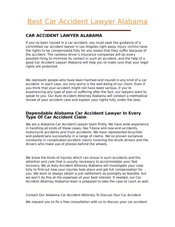 Best Car Accident Lawyer Alabama