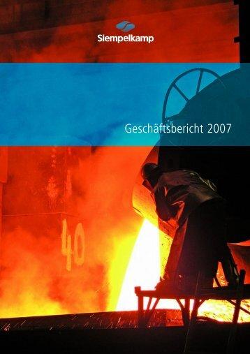 Jahresbericht 2007 - Siempelkamp