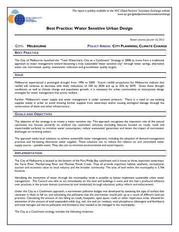 Best Practice: Water Sensitive Urban Design - NYC.gov
