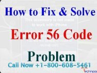 Call +1-800-608-5461 To Fix iPhone Error Code 56