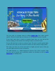 Stock Tips | Stock Future Tips Provider | Intraday tips