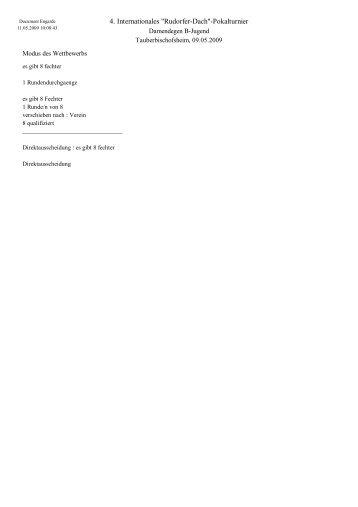 """4. Internationales """"Rudorfer-Dach""""-Pokalturnier"""