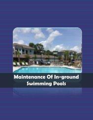 Maintenance Of Inground Swimming Pools