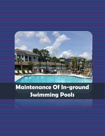 Maintenance Of Inground Swimming Pools