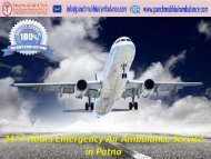 Reliable and Low Fare Air Ambulance Service in Patna