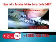 1-800-256-0160 Fix Toshiba Printer Error Code Ca00