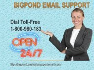 Bigpond Email Support Toll-Free Number 1-800-980-183| Avoid Issue