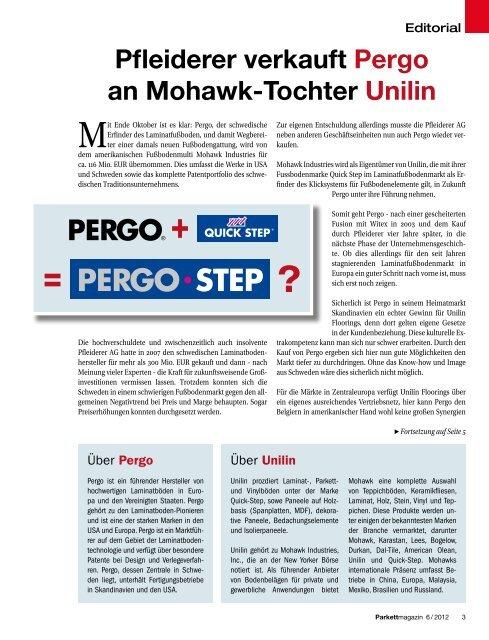 eölte Pergo· SteP - beim SN-Fachpresse Verlag