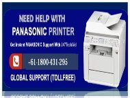 Panasonic Printer Helpline Number +61-1800-431-295 (1)
